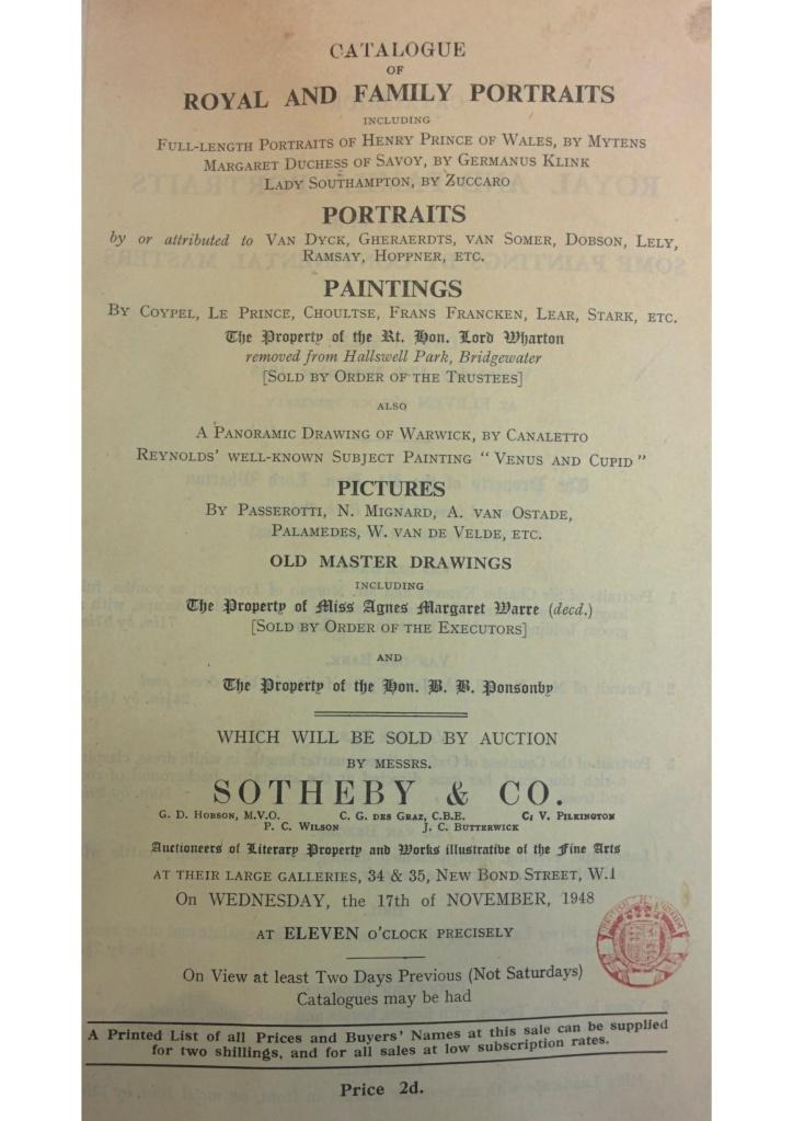 1948 Sales Catalogue