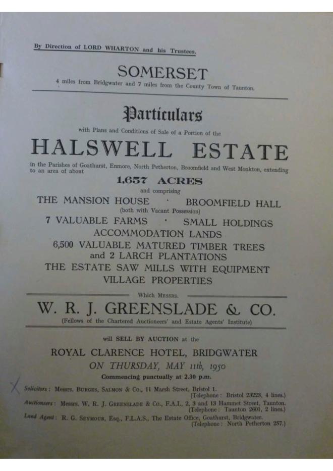 1950 Sales Catalogue