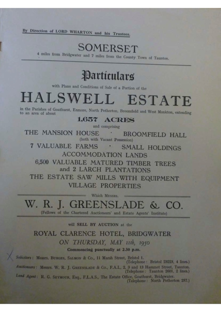1950 Sales Catalogue