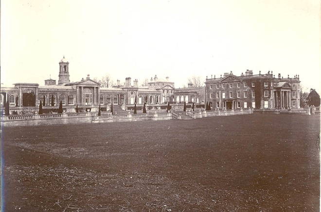 No preservation society or historical group raised an objection to the demolition ofRobert Adam's Bowood House, and the demolition went ahead unchallenged in 1956. Only the orangery wings– to the left of the photograph– remain, and they are today Grade I listed.