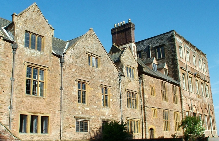 The same view with the addition of the dormer windows above the Great Hall and Solar.
