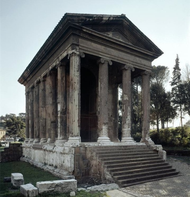 The Temple of Portunus, Rome, 120-80 BC.