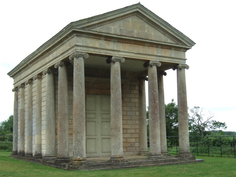 The Temple of Harmony, built 1764-7 with a direct view between it and the Rotunda.