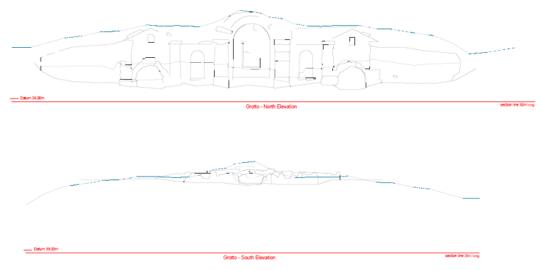 North and South Facade drawings (Click to view full size)