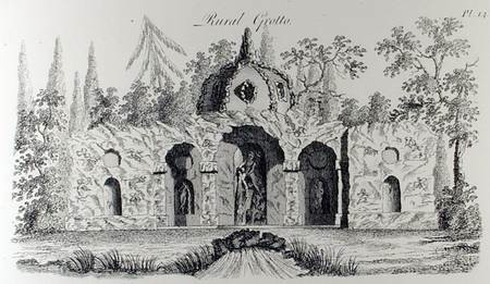 Rural Grotto, from 'Grotesque Architecture or Rural Amusement', by William Wright, published c.1767-90.